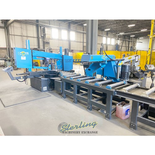 Used DoALL Dual Column, Dual Miter StructurALL Automatic Bandsaw (only 30 hours On it) DCDS-600NC