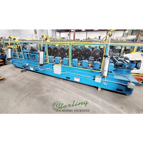 """Used Bradbury Rollformer, Coil Straightener, Coil Reel, Punch, Nibble, Notch and Shear System Complete Forming Roll Forming Line """"Great for HVAC Frames for Heating and Air Conditioning."""" Rollformer 420"""